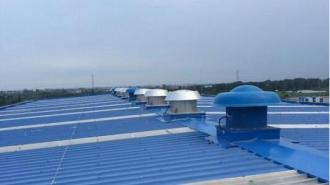 厂房排风降温利器玻璃钢屋顶风机